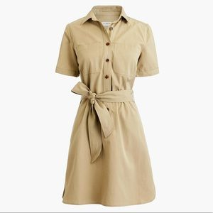 NWT J Crew Factory Utility Khaki Shirt Dress